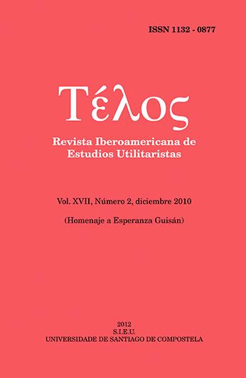 Portada Télos volumen 17 número 2 año 2010